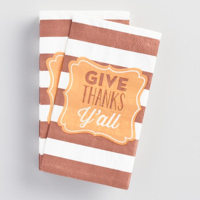 Thanks Ya'll Guest Napkins 16 Count