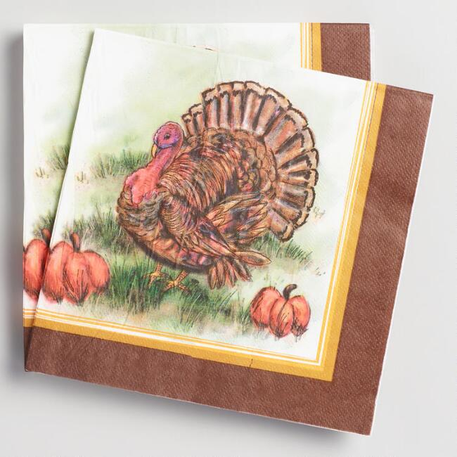 Mr Turkey Lunch Napkins 20 Count