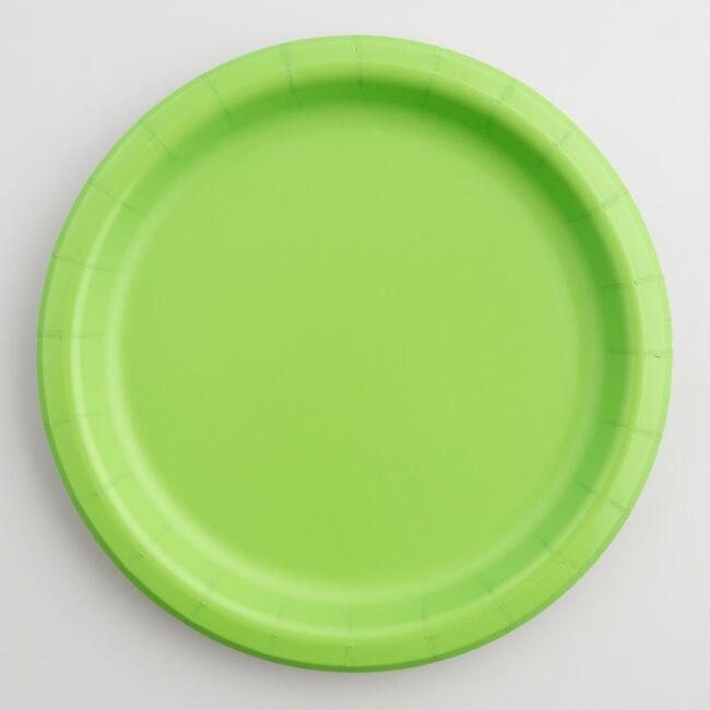 Green Paper Party Dessert Plates Set of 2