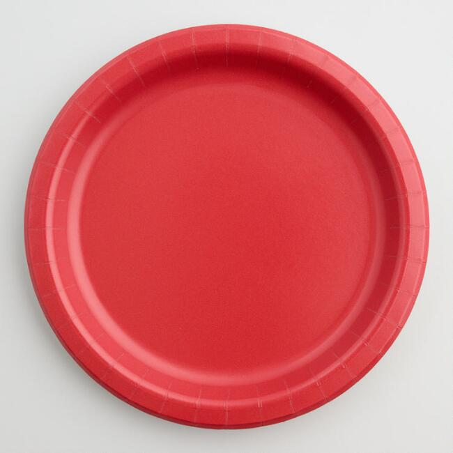 Red Paper Party Plates Set of 2