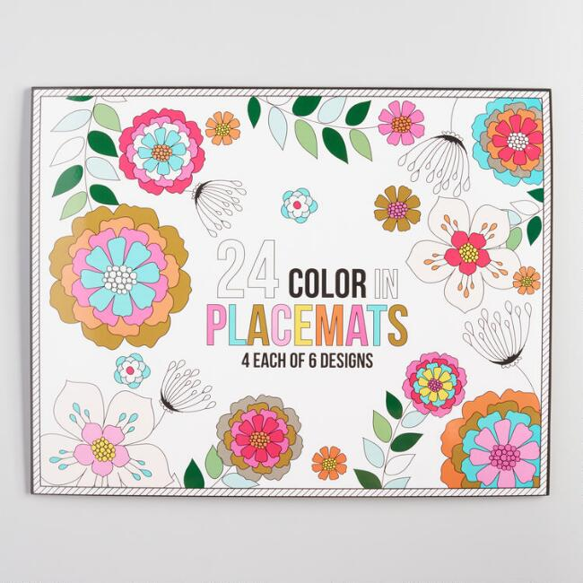 Color Your Own Placemats 24 Count