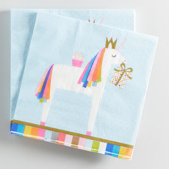 Unicorn Lunch Napkins 20 Count