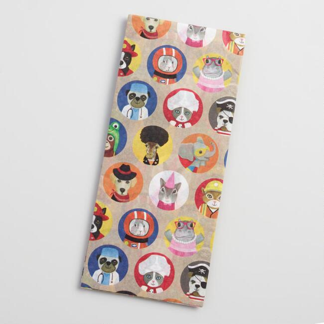 Dressed Up Animals Tissue Paper Set of 2