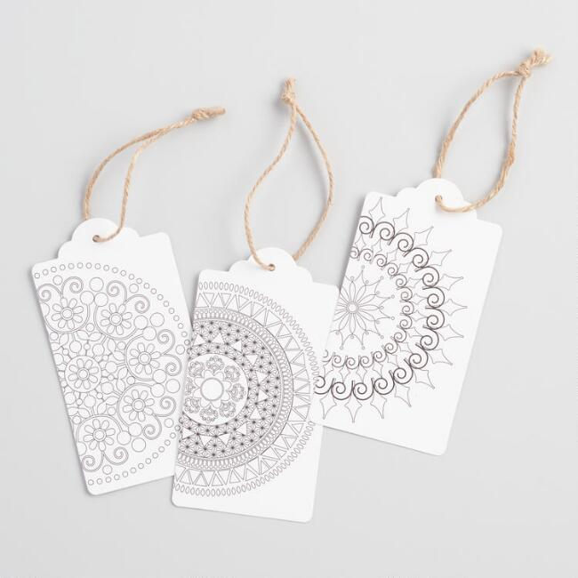 Color Your Own Gift Tags Set of 2