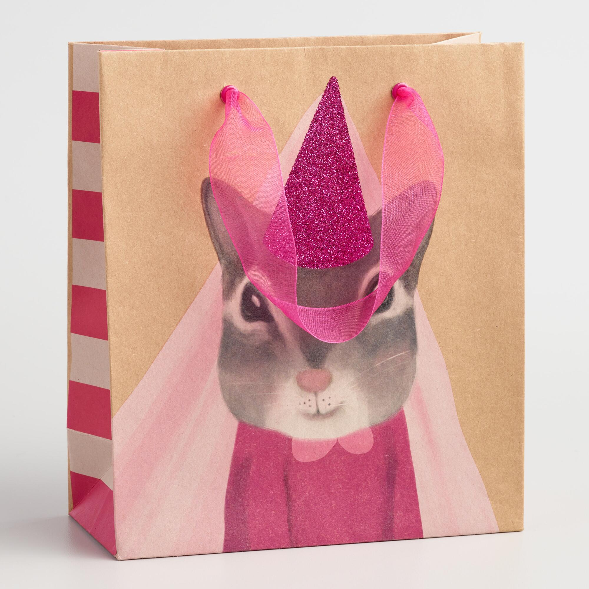 Small Princess Squirrel Gift Bags Set of