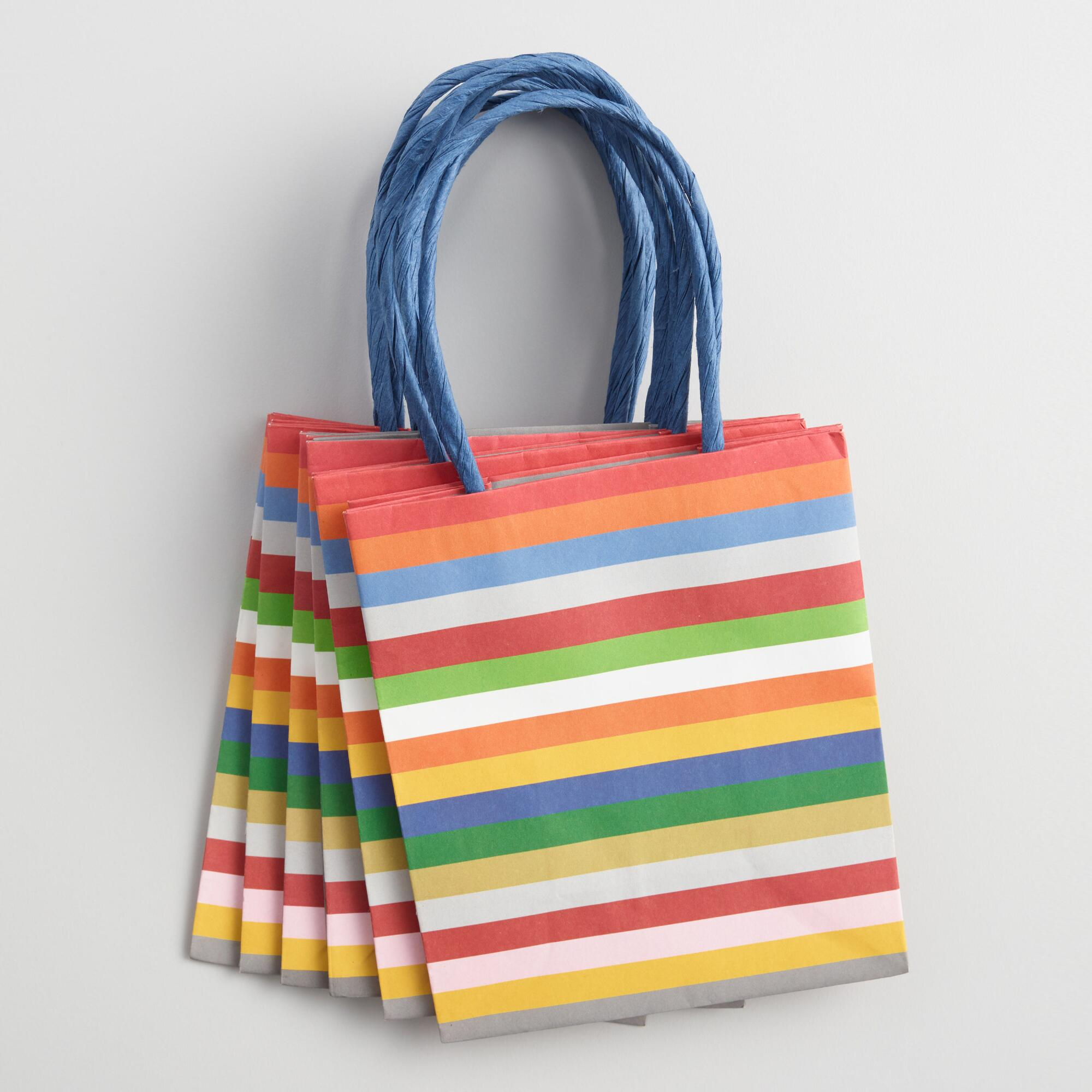 Mini Stripe Gift Bags 6 Pack by