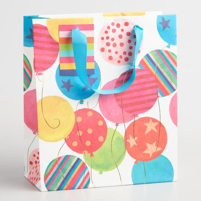Medium Balloons Gift Bags Set of 2