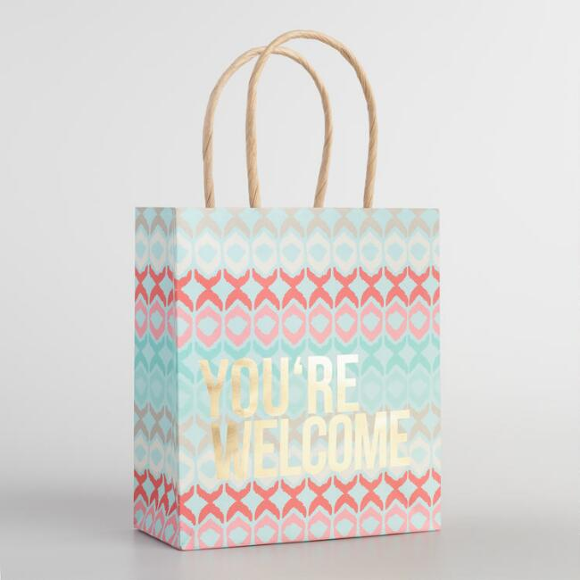 You're Welcome Small Kraft Gift Bags Set of 2