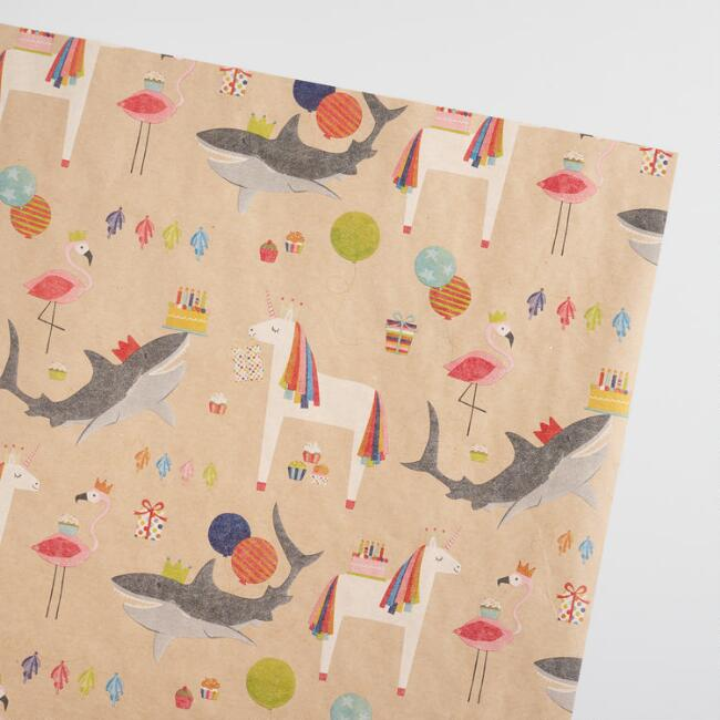 Unicorn Kraft Wrapping Paper Roll
