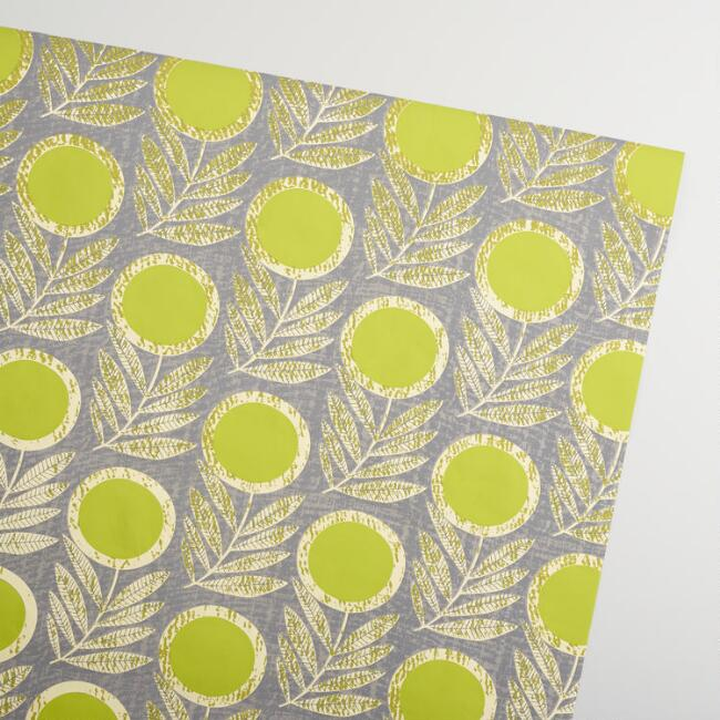 Green Letta Handmade Wrapping Paper Rolls Set of 2