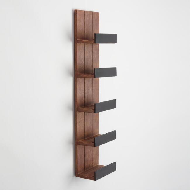 Wooden Chalkboard Wall Wine Rack