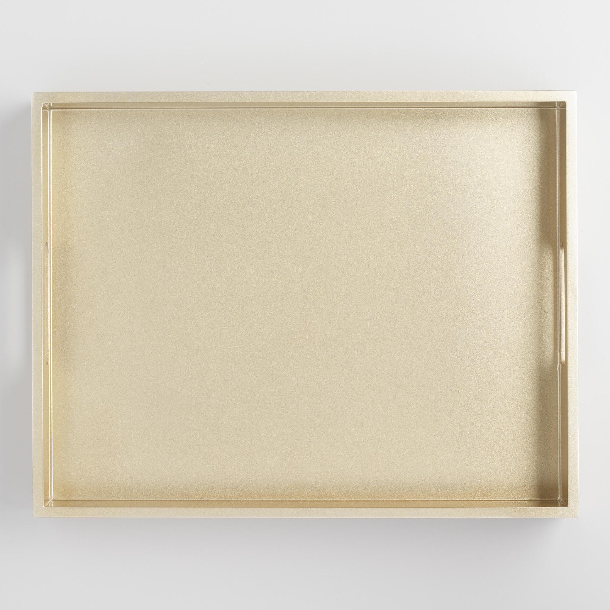 Golden Sparkle Lacquer Serving Tray by World Market