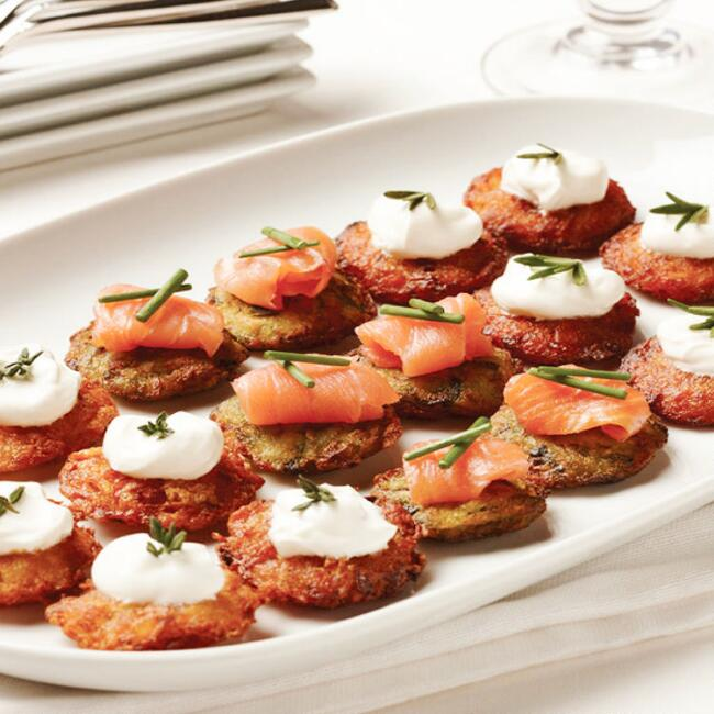 Gourmet Bite Size Assorted Latkes 48 Count