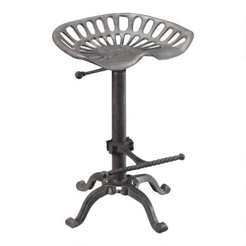 Pleasing Cast Iron And Metal Mabry Adjustable Tractor Seat Stool Beatyapartments Chair Design Images Beatyapartmentscom