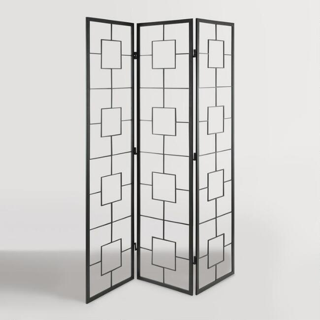 Black Metal Squares Room Divider