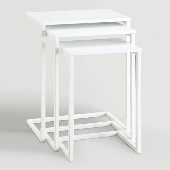 White Zinnia Nesting Tables Set of 3