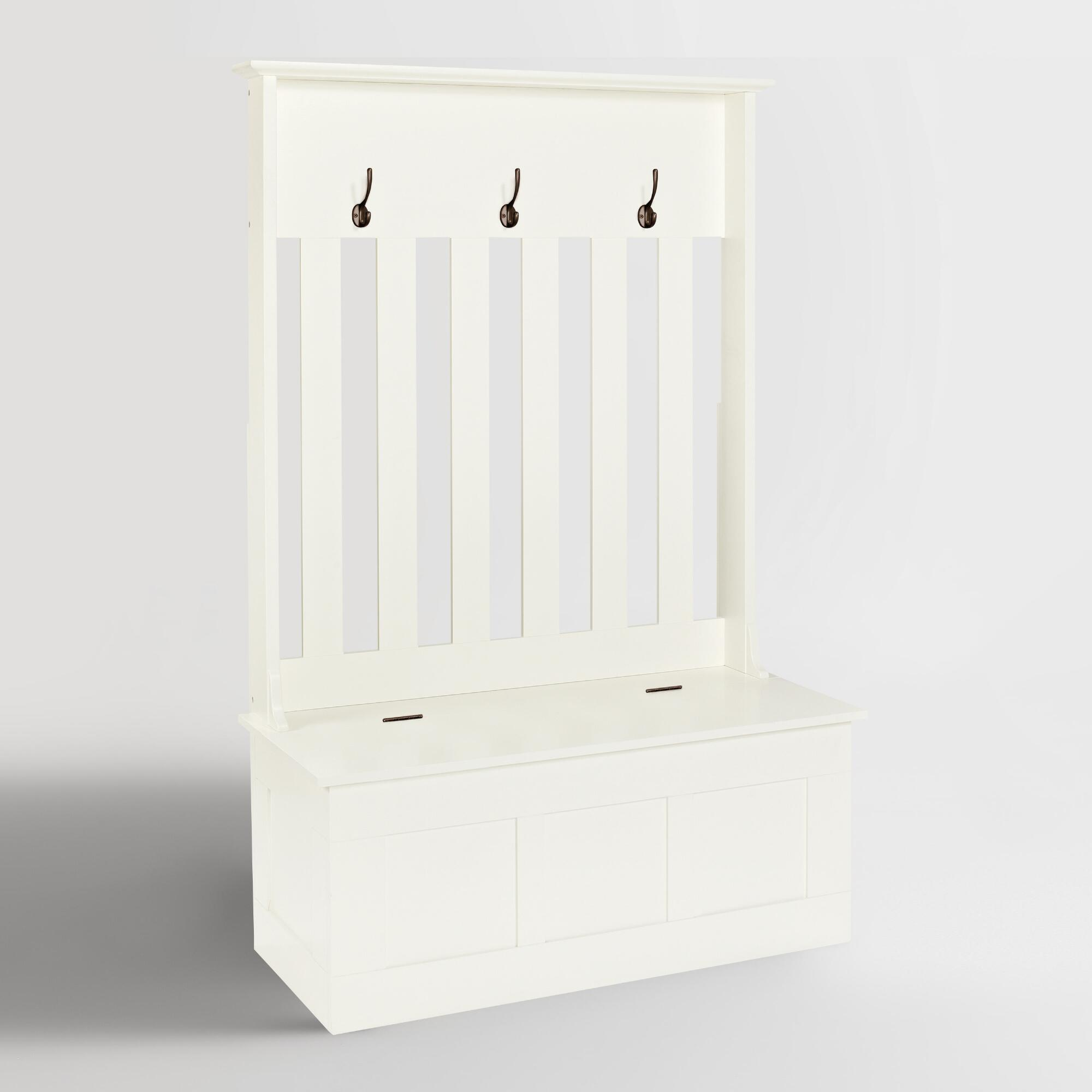 White Wood Wentworth Entryway Storage Bench by World Market