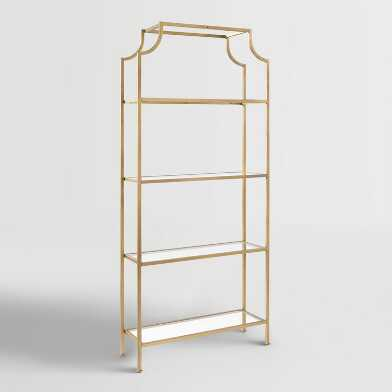 Tall Gold Milayan Shelf