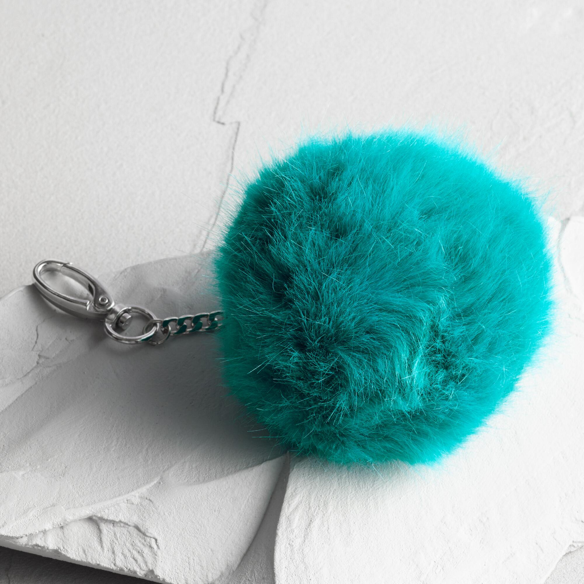 Teal Pom Handbag Charm: Blue by World Market