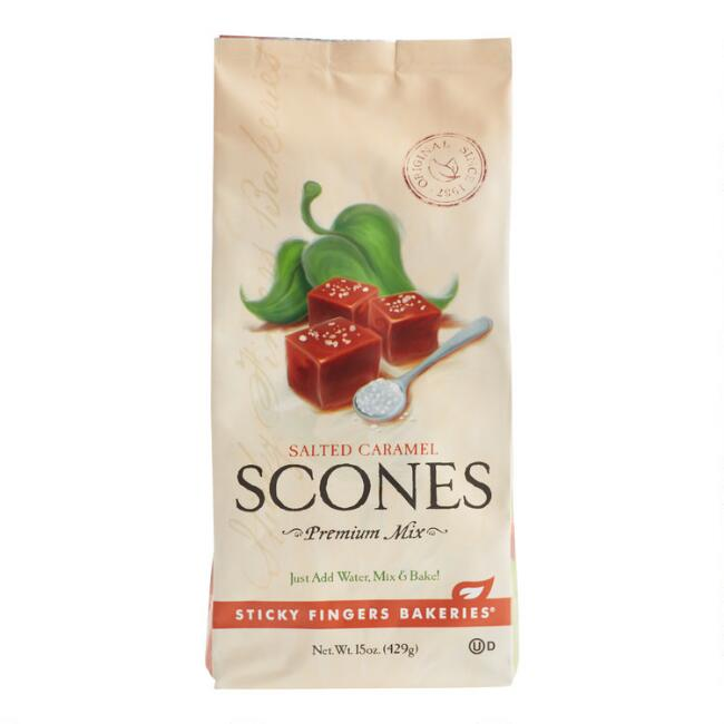 Sticky Fingers Bakeries Salted Caramel Scone Mix Set of 6