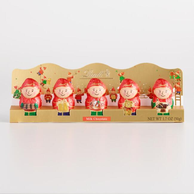 Lindt Chocolate Mini Elves Set of 12