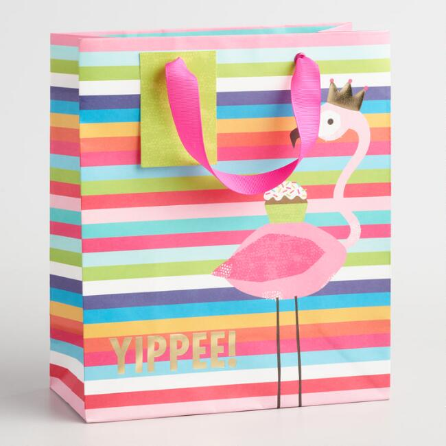 Medium Yippee Flamingo Gift Bags Set of 2  840a331b3