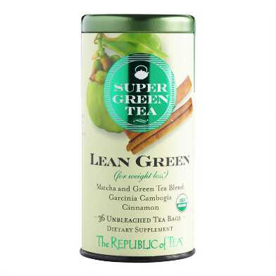 The Republic Of Tea SuperGreen Lean Green Tea 36 Count