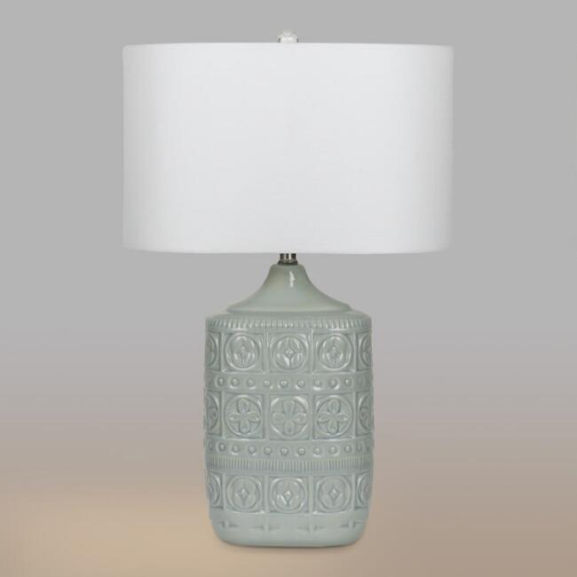 Light gray ceramic emma table lamps set of 2 world market light gray ceramic emma table lamps set of 2 aloadofball Image collections