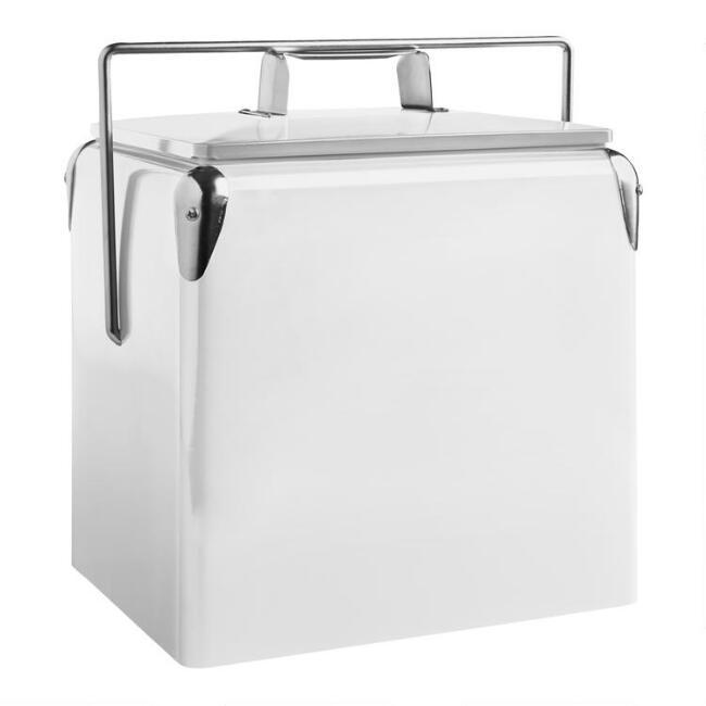 White Retro Drink Cooler
