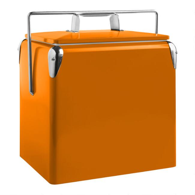 Orange Retro Drink Cooler
