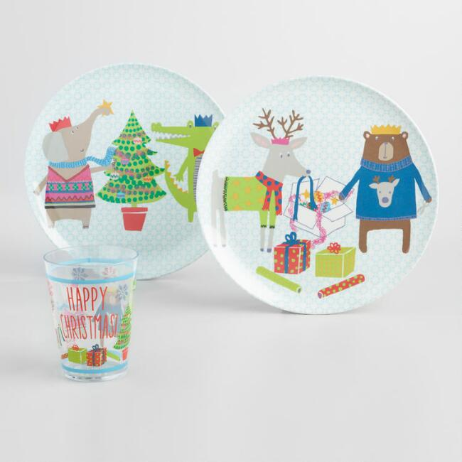 Kid's Christmas Dinnerware Collection