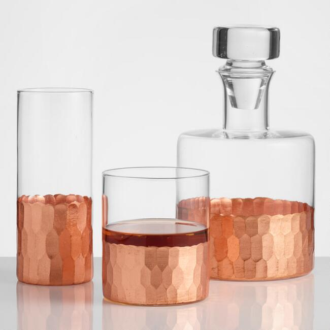 Copper Faceted Barware Collection