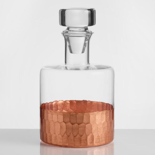 Copper Faceted Decanter