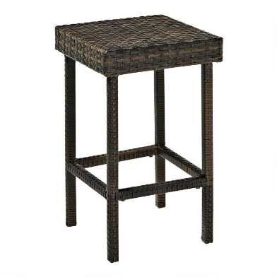 All Weather Wicker Pinamar Outdoor Counter Stools Set of 2