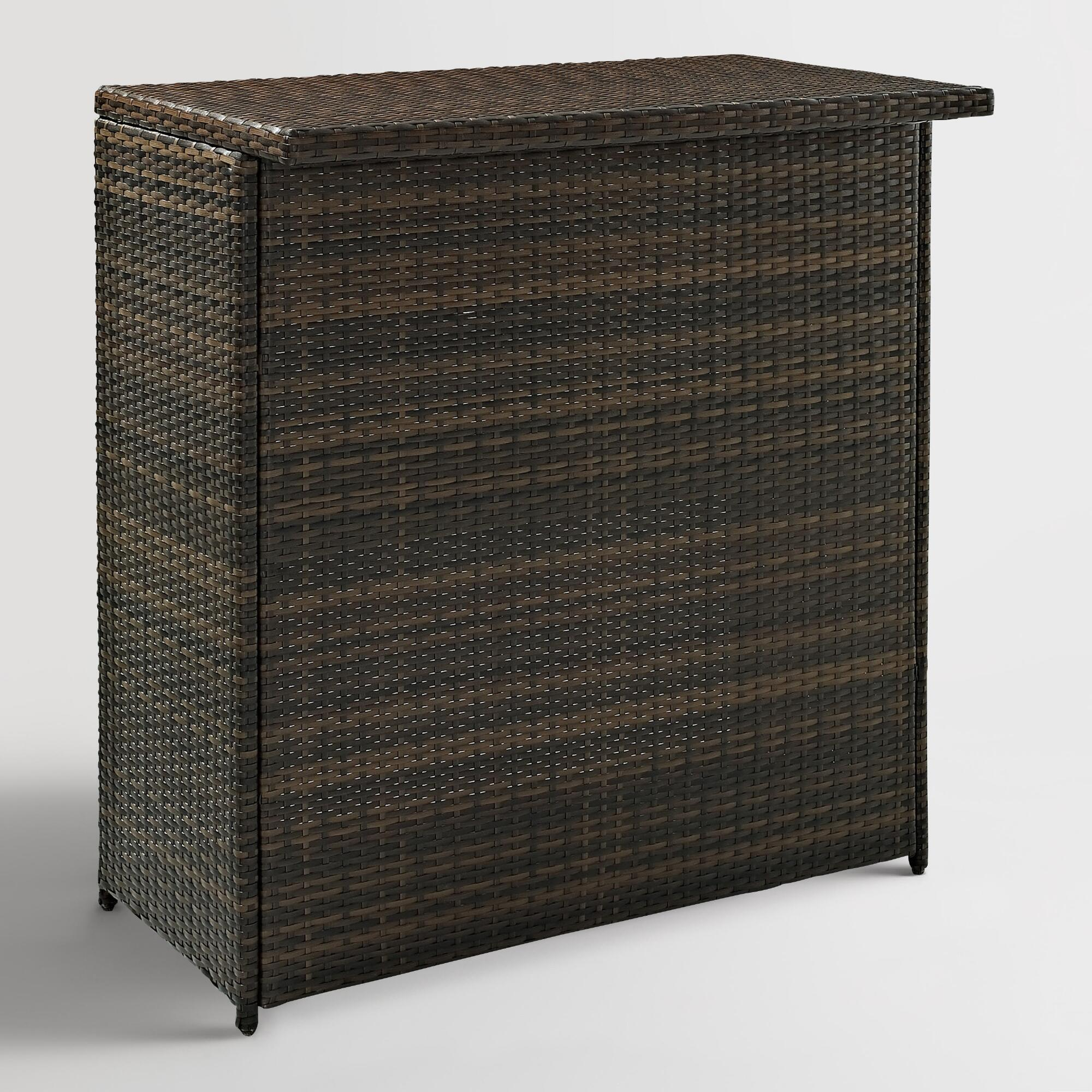 Espresso All Weather Wicker Outdoor Patio Pinamar Bar: Brown - Resin by World Market