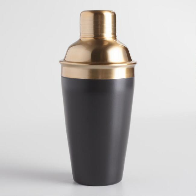 Black and Gold Cocktail Shaker