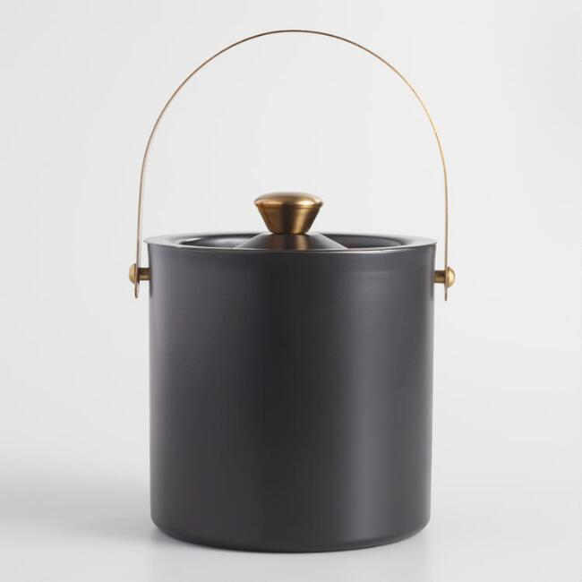Black and Gold Double Walled Ice Bucket