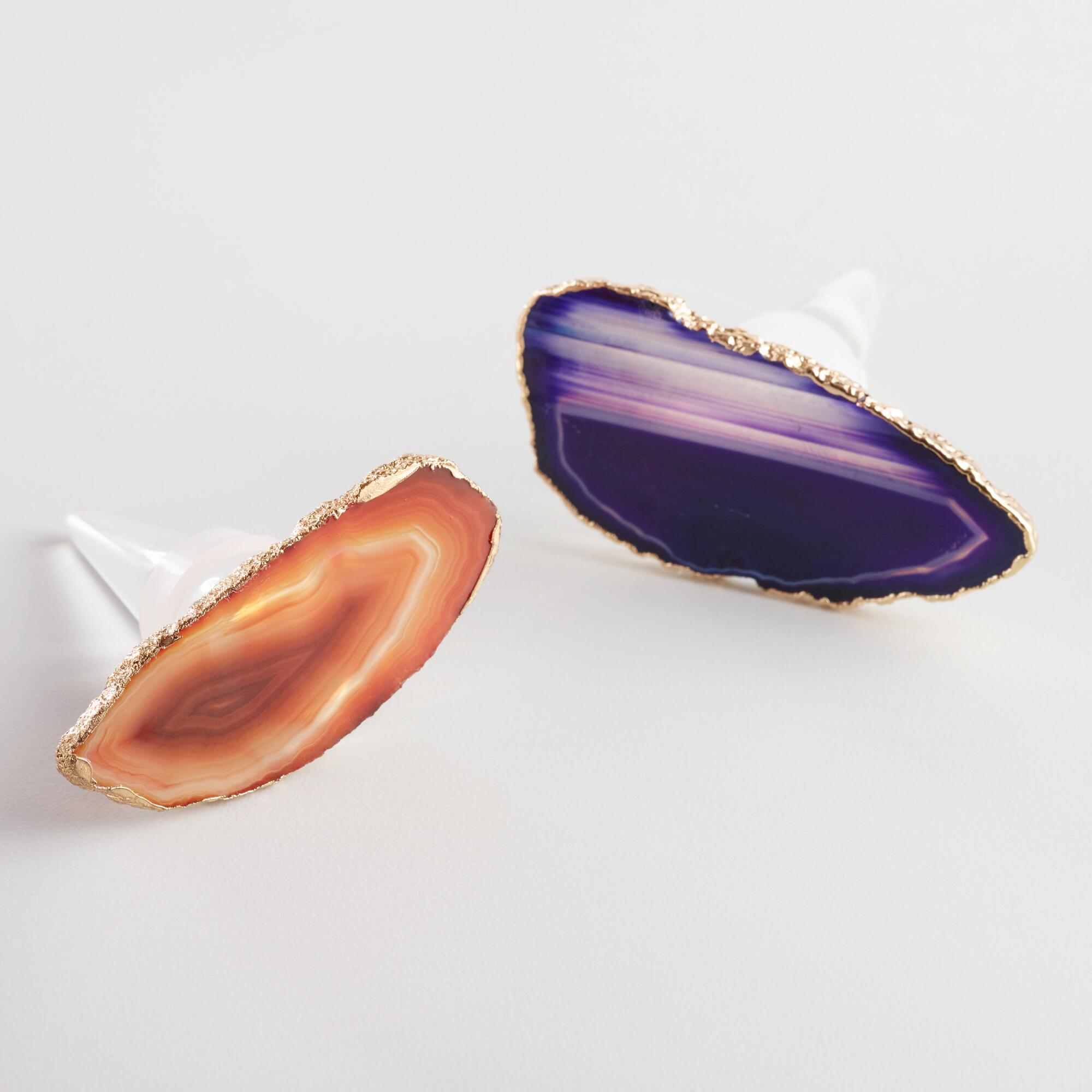 Agate Wine Stoppers Set of 2 by World Market