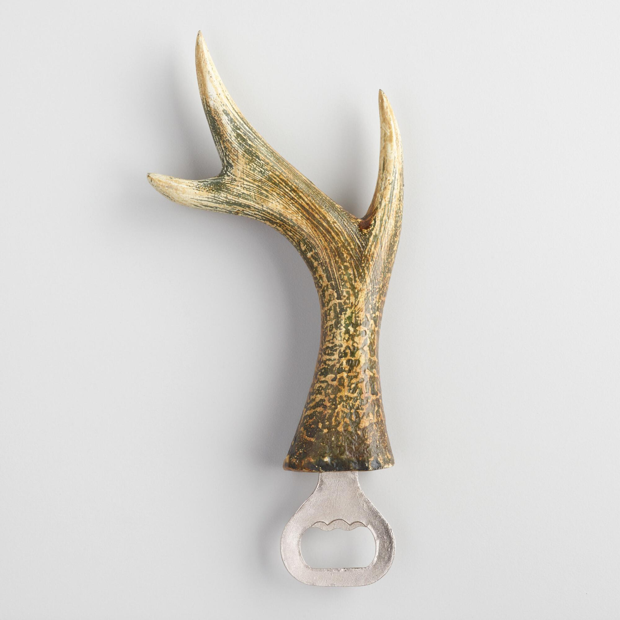 Wood and Metal Antler Bottle Opener by World Market