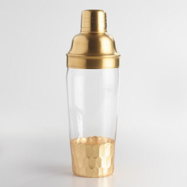 Faceted Gold Cocktail Shaker