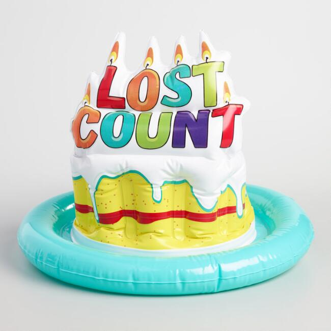 Lost Count Inflatable Birthday Hat