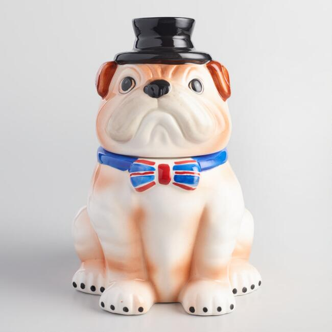 English Bulldog Ceramic Cookie Jar