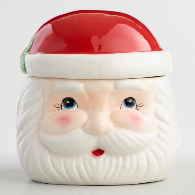 Retro Santa Claus Ceramic Cookie Jar