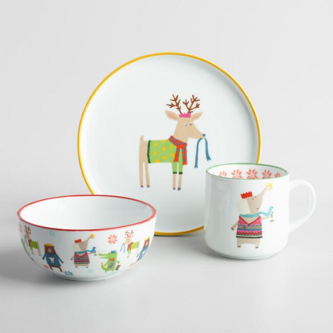 Kids' Christmas Animal Serveware Collection