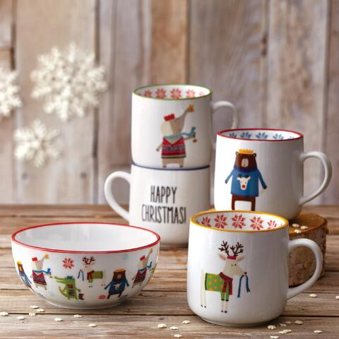 Kids Christmas Animal Mugs Set Of 4 World Market