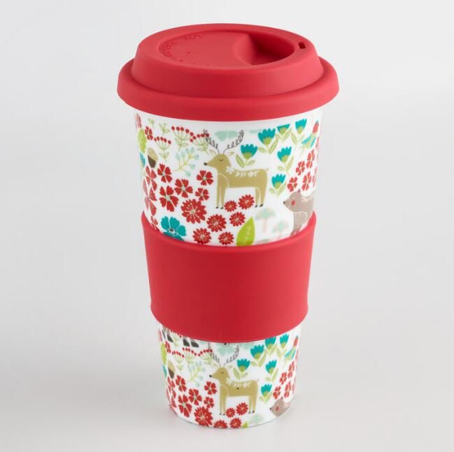 Wild and Free Ceramic Travel Not a Paper Cup Set of 4