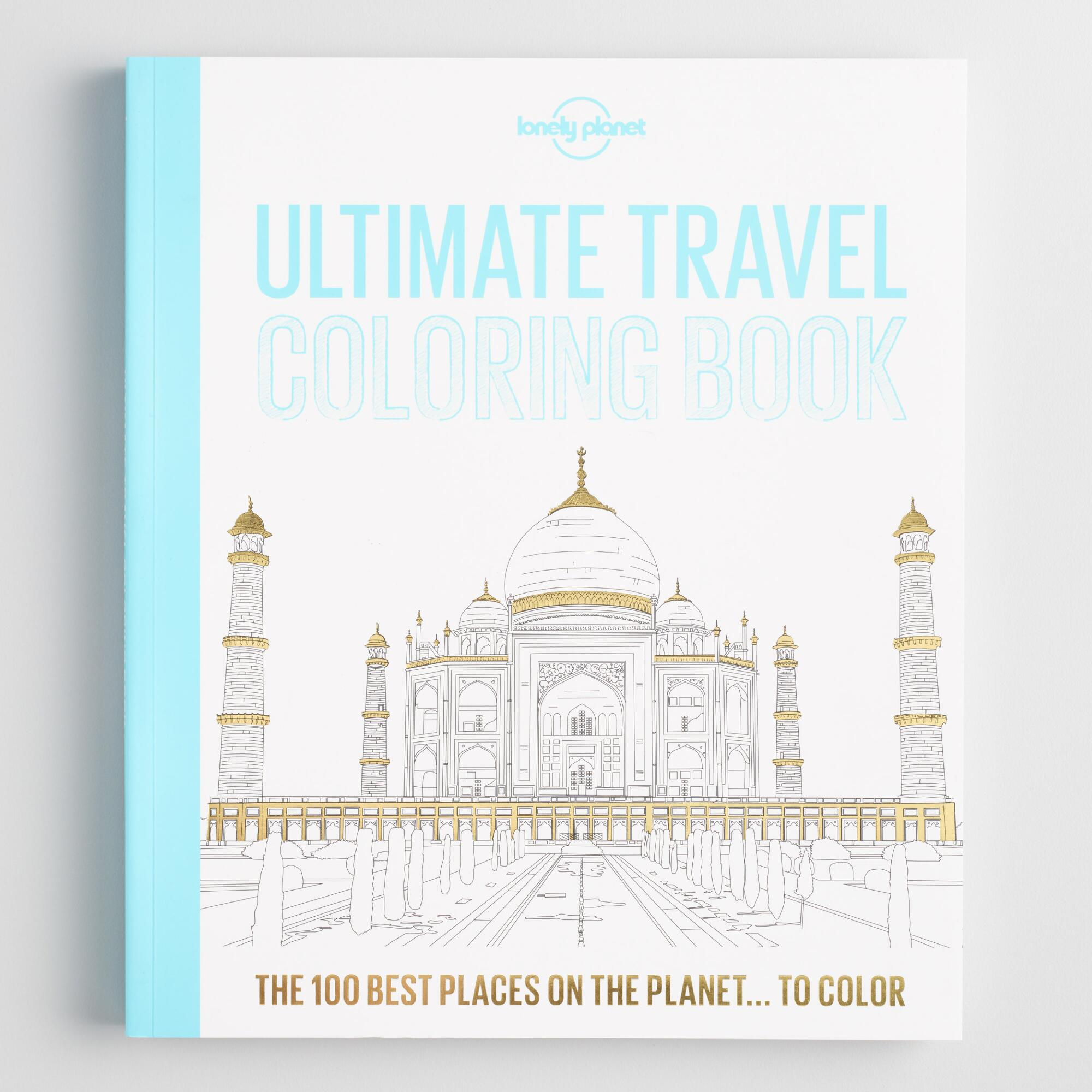 Lonely Planet Ultimate Travel Coloring Book by World Market