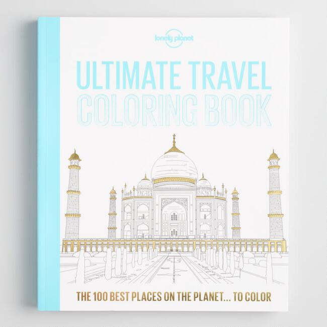 Lonely Planet Ultimate Travel Coloring Book | World Market