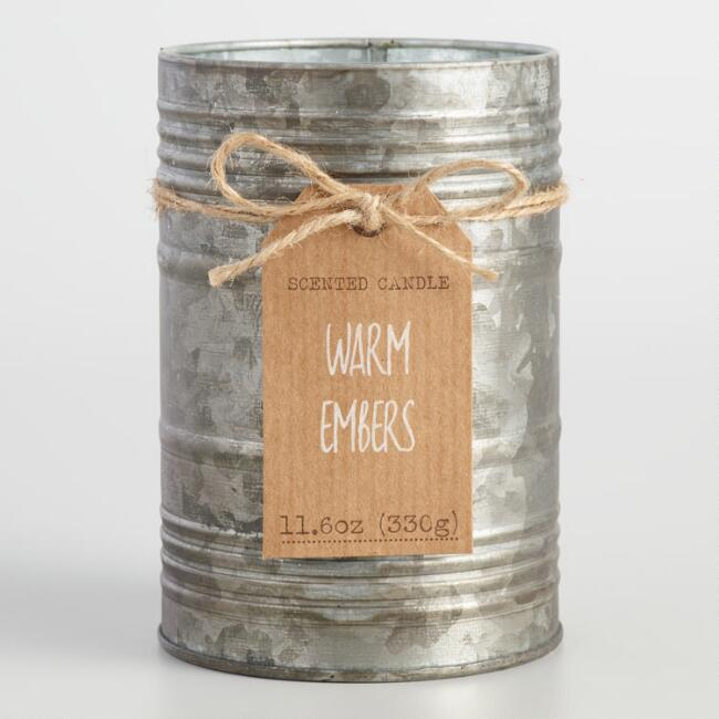 Warm Embers Antiqued Candle Tin