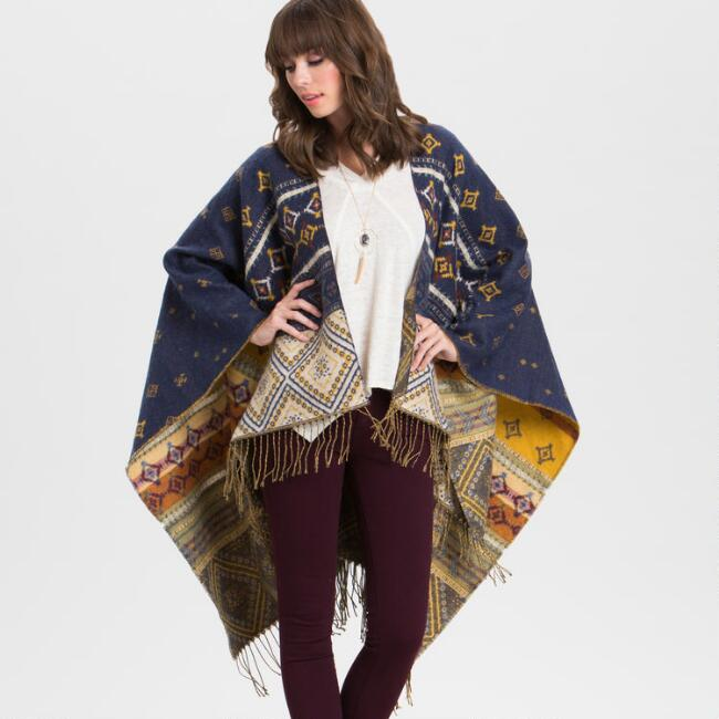 Blue and Yellow Southwestern Wrap